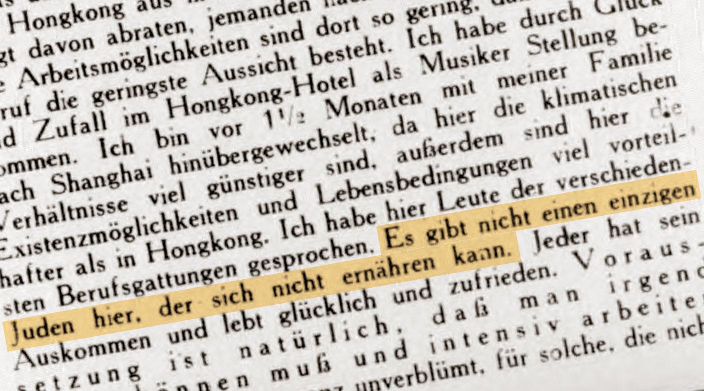 Ein deutsch-jüdischer Auswanderer berichtet