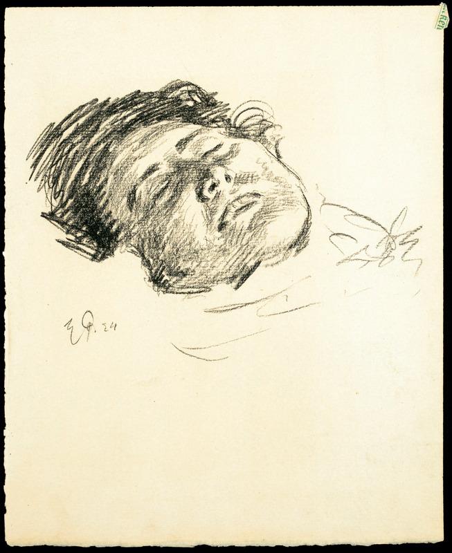 Eugen Spiro's wife on her deathbed