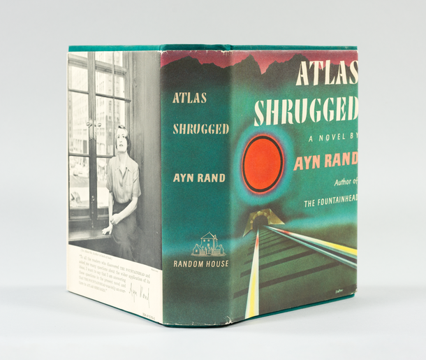 Ayn Rand, Atlas Shrugged, 1957, jacket designed by George Salter