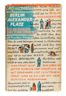 Alfred  Döblin, Berlin Alexanderplatz , 1930, cover designed by George Salter.