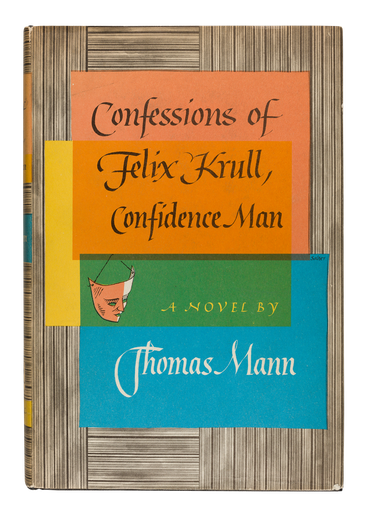 Thomas Mann, Confessions of Felix Krull, Confidence Man, 1955, jacket designed by George Salter