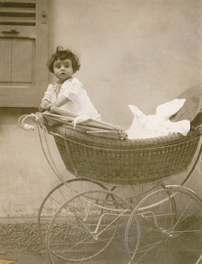 Gaby Glueckselig Photograph in Baby Carriage