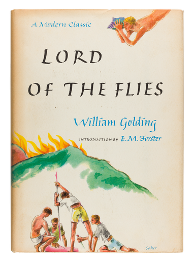 Lord of the Flies, 1962, dust jacket designed by George Salter