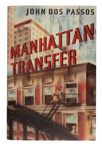 Manhattan Transfer, 1953,  cover designed by George Salter