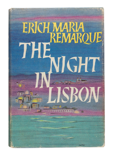 The Night in Lisbon, 1964, dust jacket designed by George Salter