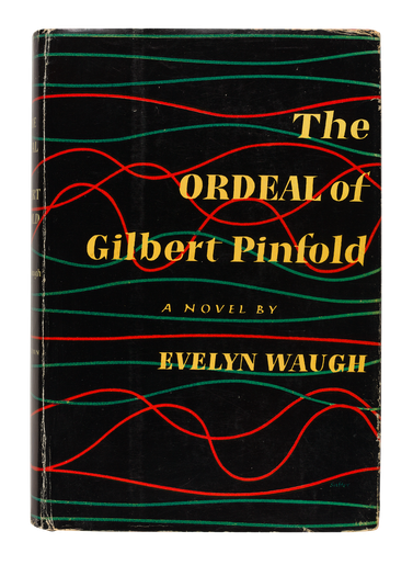 The Ordeal of Gilbert Pinfold, 1957 - dust jacket designed by George Salter