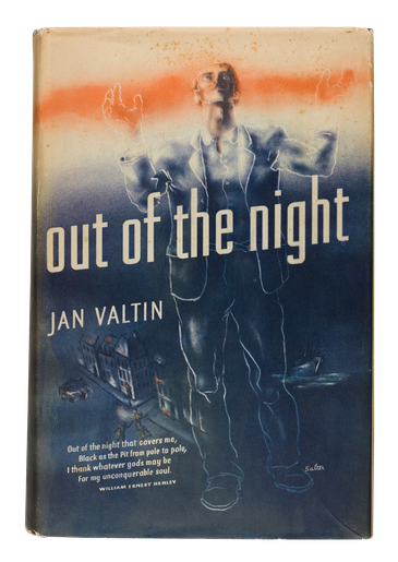 Out of the Night, 1941, dust jacket designed by George Salter
