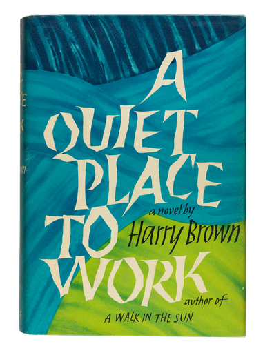 A Quiet Place to Work, 1968, dust jacket designed by George Salter