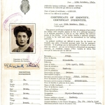 Certificate of Identity issued to Elisabeth Jonas