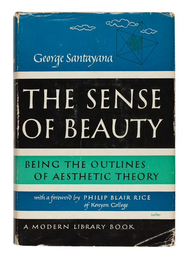 The Sense of Beauty, 1955, cover designed by George Salter