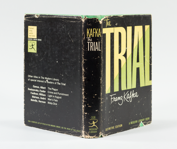 The Trial, 1947, cover designed by George Salter