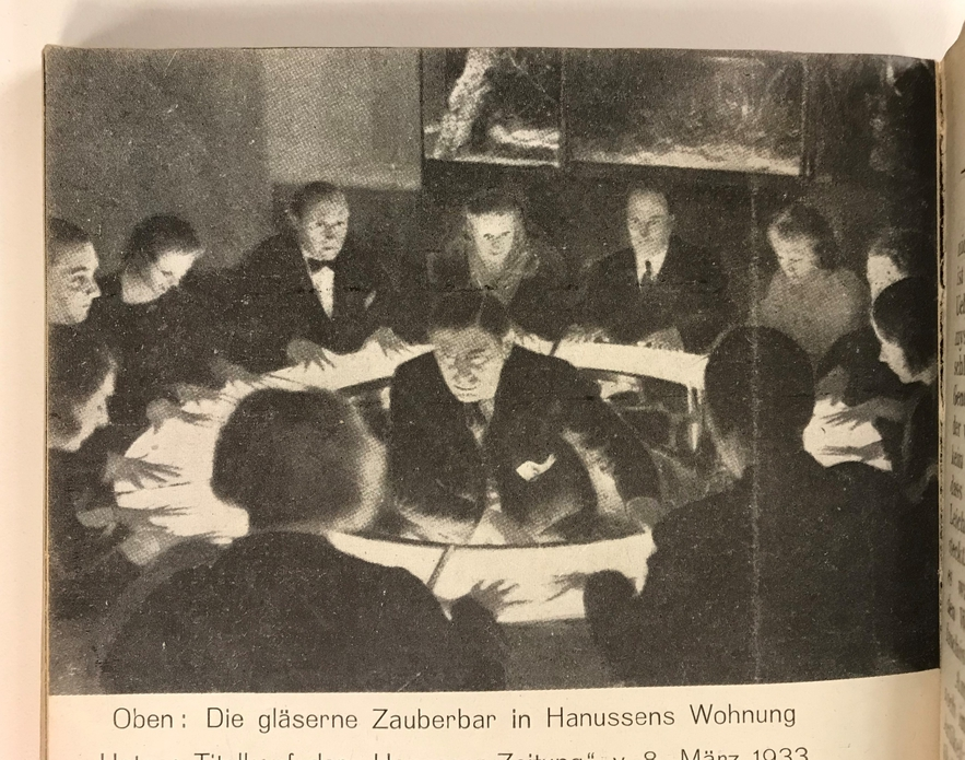Hanussen giving a séance at his Palace of the Occult on the night of February 26, 1933.