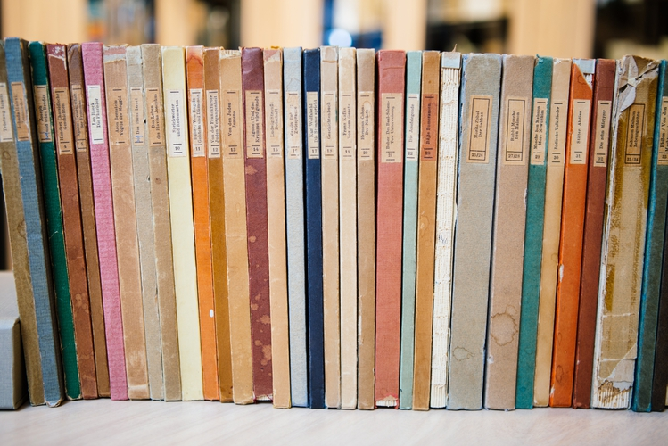 The Shocken Library Spines