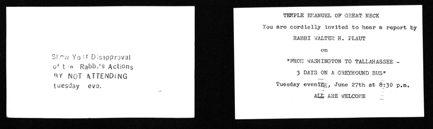 "Leaflet ""Show your disapproval"", from Walter Plaut Scrapbook"