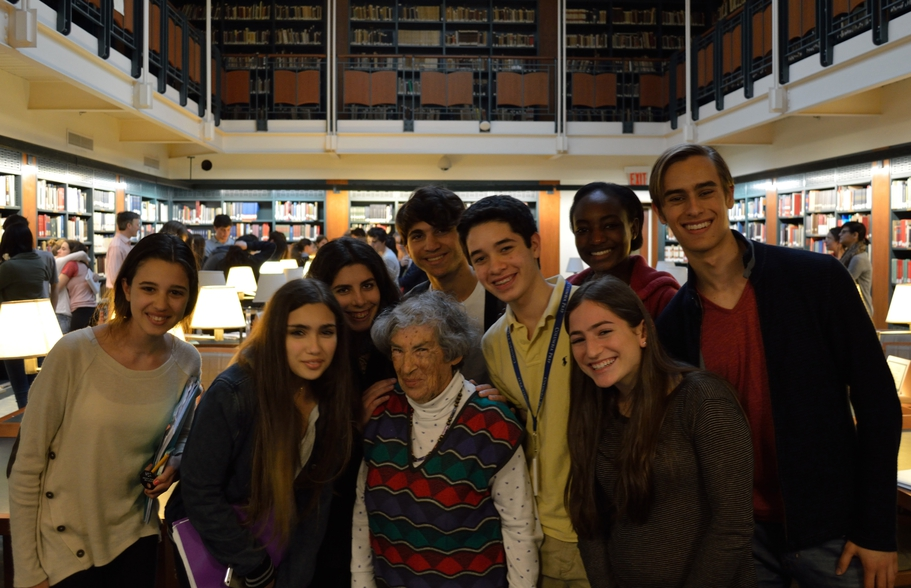 Students meeting Miriam Merzbacher.jpg