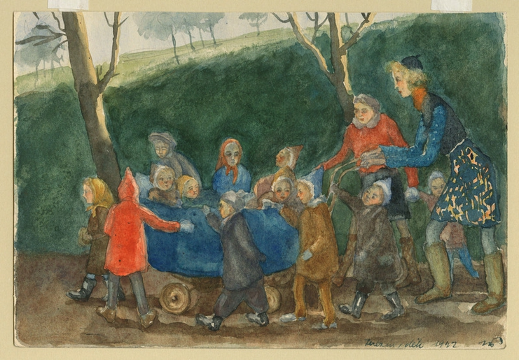 Children of Theresienstadt on a Supervised Outing by Norbert Troller