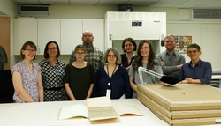 Visit of Dr Rachel Heuberger University Library Frankfurt with the LBI CJH periodicals digitization project team.jpg