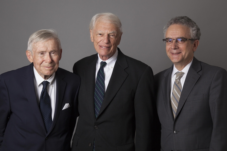 Bernie Blum, Rabbi Ronald B. Sobel, William H. Weitzer
