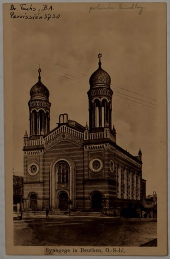 Beuthen Synagogue Postcard