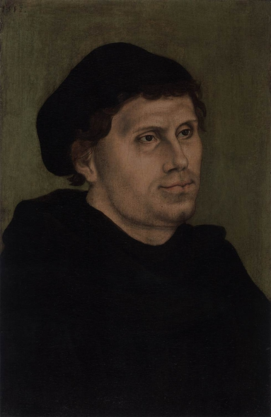 Luther as a Monk, by Lucas Cranach