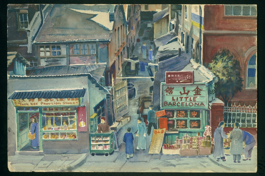 Shanghai Street Scene by David Ludwig Bloch