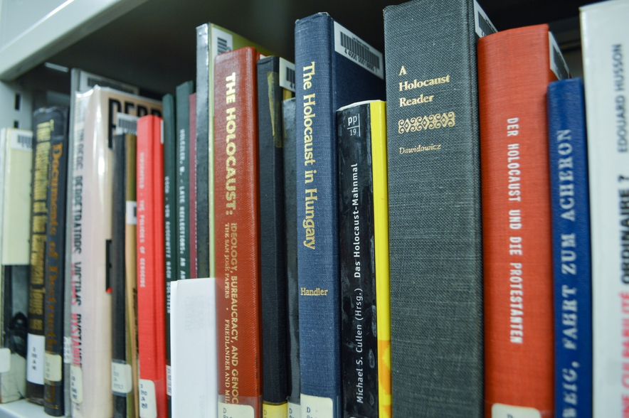 Books about the Holocaust in the LBI Library Stacks