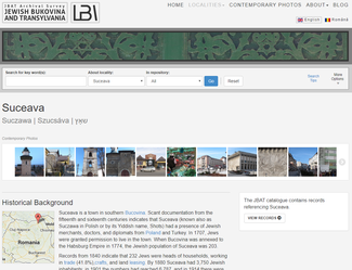Jewish Bukovina and Transylvania Website Screenshot