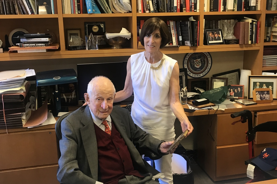 Karen Franklin and Robert Morgenthau