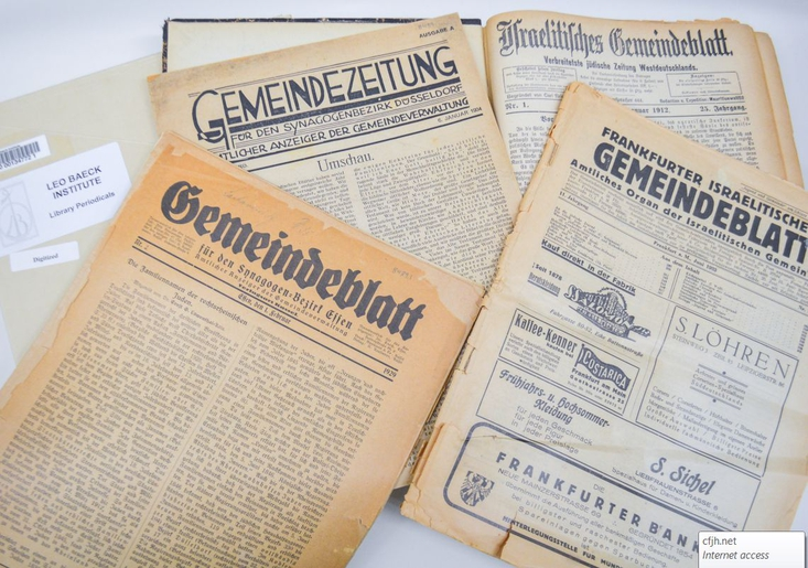 German-Jewish Congregational Newsletters