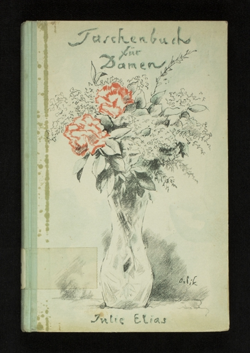 The cover of Julie Elias's Taschebuch der Damen with illustrations from Emil Orlik