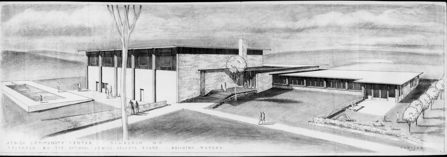 Architectural Plans for Jewish Community Center in Newburgh, NY by Norbert Troller