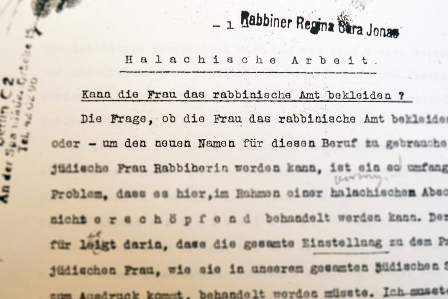 "Regina Jonas' Dissertation ""Can a Woman be a Rabbi"""