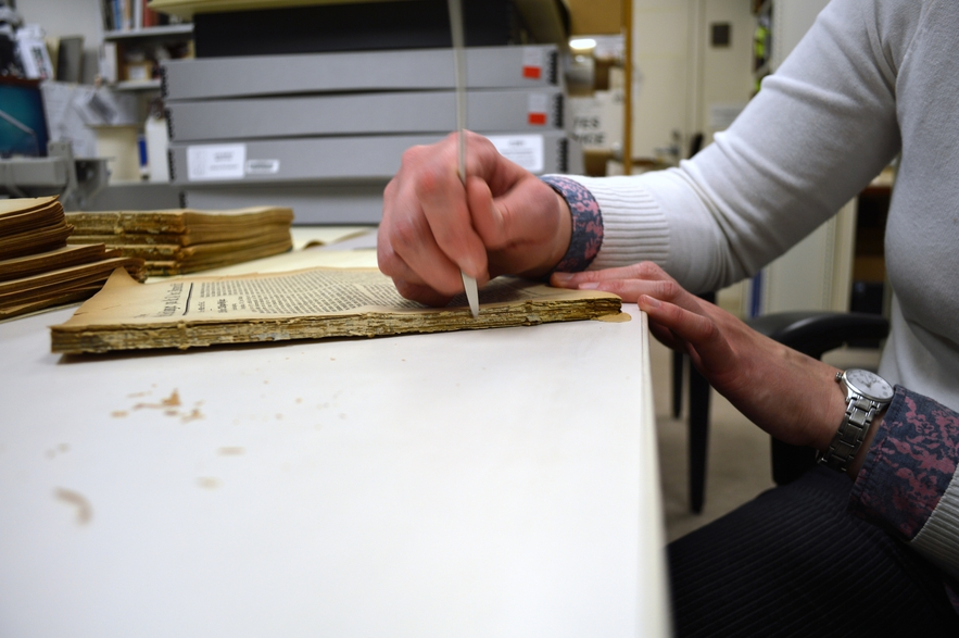 Scraping the Glue of a Periodicals Binding