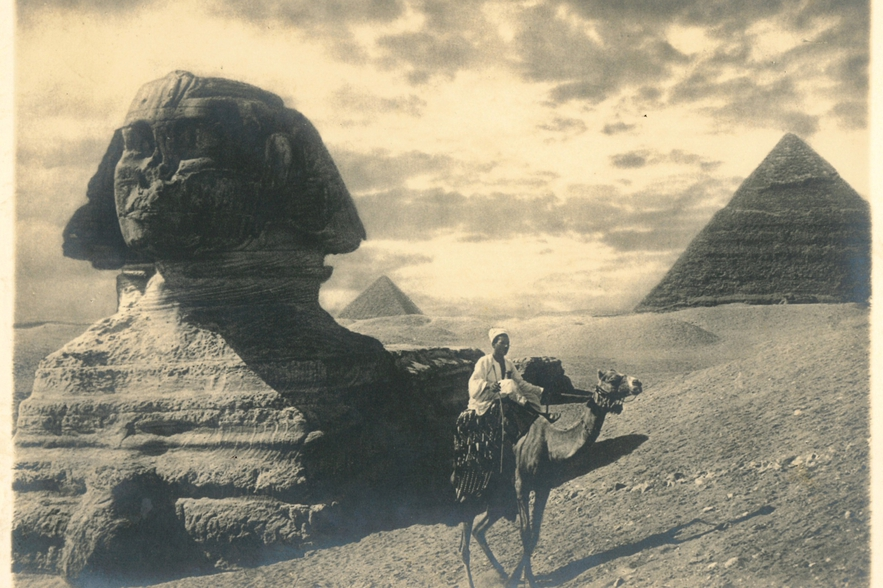 Sphinx and Camel Photograph
