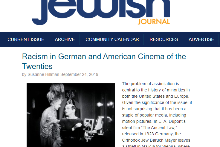 San Diego Jewish Journal Article on LBI Event