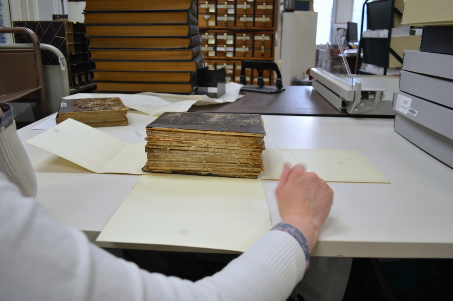 Periodical bound too thick for digitization