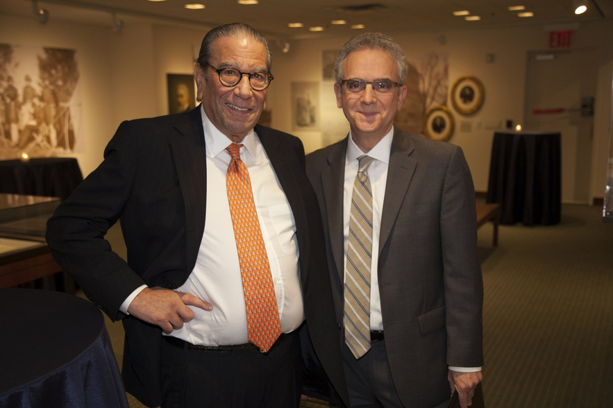 Max Warburg (l) with LBI Executive Director William H. Weitzer at the Center for Jewish History in New York on November 15, 2017.